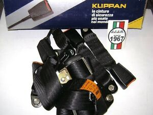 imbattuto x di prim'ordine ben noto Dettagli su Cinture di sicurezza posteriori con arrotolatore Klippan Lancia  Y10