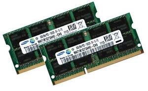 2x8GB 16GB Memory PC3-12800 SODIMM Dell Precision M6500 Quad Core DDR3-1600MHz