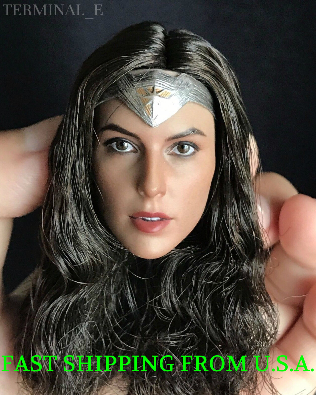 1 6 Gal Gadot WONDER WOMAN Head Sculpt For PHICEN Hot Toys Female Figure ❶USA❶