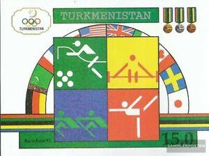 Turkmenistan-Block2-kompl-Ausg-postfrisch-1992-Olympische-Sommerspiele-92