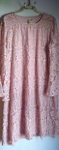 Beautiful Tacera Pink Lace Sheath Dress Size 2X