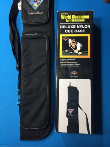 Excalibur Pool Cue Soft Case New Old Stock Condition Black