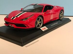Maisto-Ferrari-458-Speciale-2020-Edicion-Especial-Rojo-1-18-Nuevo-en-Caja-31706