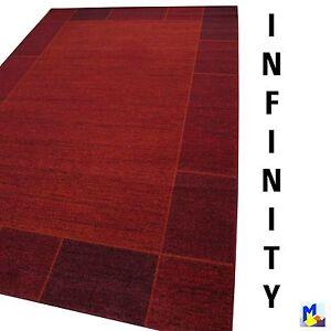 SOLDES-Tapis-INFINI-032-rouge-200x290-cm-tapis-tisse-de-haute-Qualite-NEUF