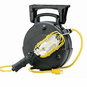 50 industrial incandescent retractable cord reel work light with image is loading 50 industrial incandescent retractable cord reel work light publicscrutiny Gallery