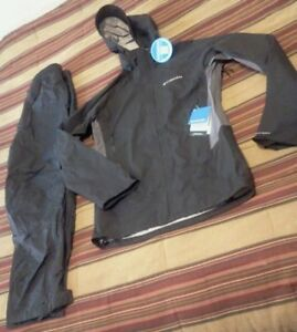 NWT COLUMBIA Pour Osity Stretch Jacket/REDHEAD Shell Pant, Small-Med, black