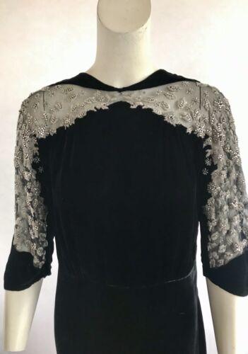 Stunning Vintage 1920s Beaded Couture Silk Velvet