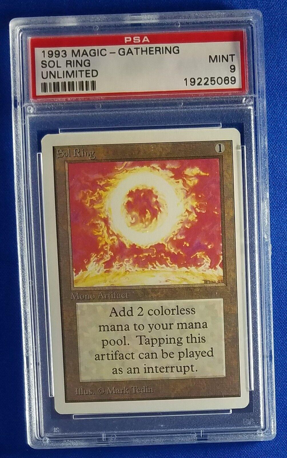 Magic Magic Magic the Gathering MTG Unlimited Sol Ring PSA 9 d288d3