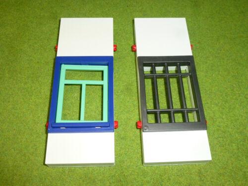 System X 2x Mauerteile Gitterfenster 16,5cm zu 3988 4324 Polizei Playmobil 003