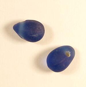 5 perles de verre artisanal goutte givrée 15 mm bleu foncé 8aSo1Zg1-09095414-295432812