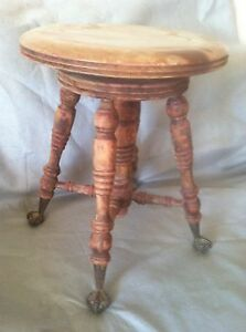 Original Lyon Amp Healy Piano Stool Chicago 1800 S Glass