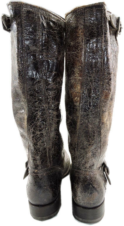 FRYE Veronica Slouch Glazed Vintage Distressed Distressed Distressed Leather Boots 7- 38 053851