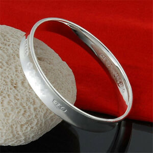 Jewellery-Solid-925Sterling-Silver-Lady-Bracelet-Bangle-Fashion-Gifts-For-Women