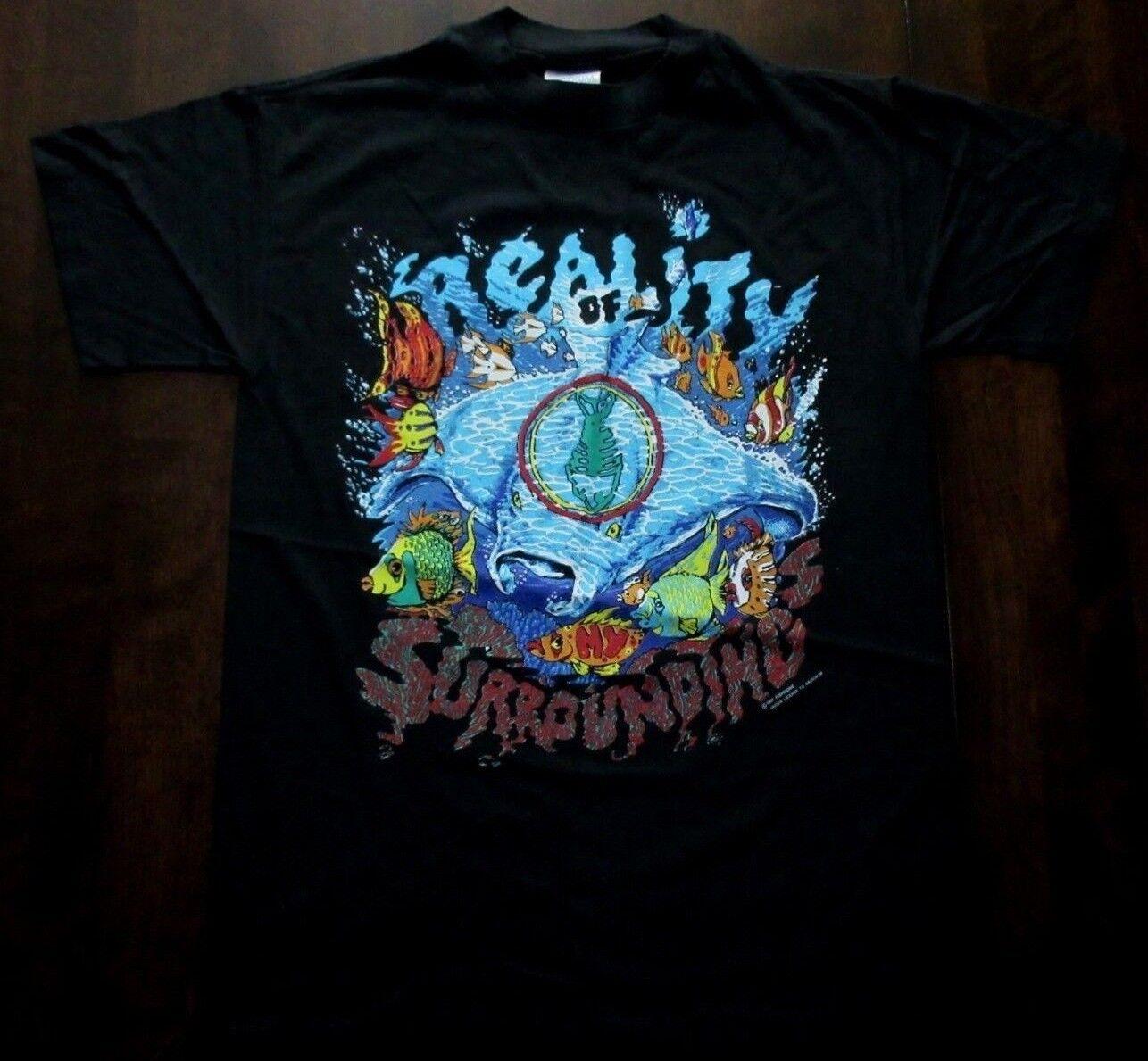 FISHBONE T Shirt VTG NOS Reality of my Surroundings 91 TOUR USA PUNK SKA 90'S