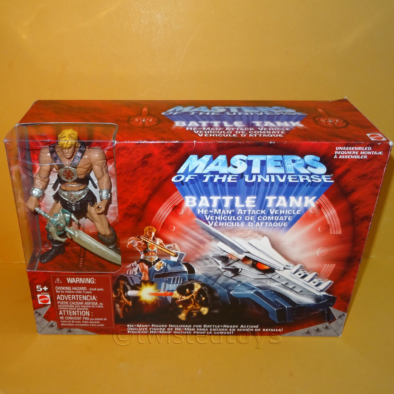 MATTEL MASTERS MASTERS MASTERS OF THE UNIVERSE MOTU moderno serie He-uomo BATTLE TANK IN SCATOLA b21f28