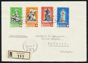 SCHWEIZ-1940-MiNr-364-367-Pro-Patria-auf-FDC-Briefvorderseite-Mi-650