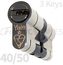 40/50 Nickel YALE Superior Euro Cylinder With 3 Keys Anti Snap / Bump / Pick /