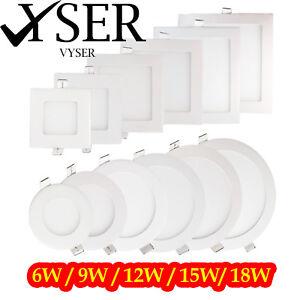 Luz-LED-Panel-De-Techo-Down-Luz-Empotrada-ultra-delgado-de-panel-plano-Redondas-Y-Cuadradas