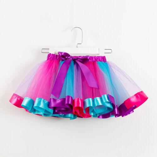 Girls Kids Tutu Party Dance Ballet Toddler Baby Costume Skirt+Bow Hairpin Set UK