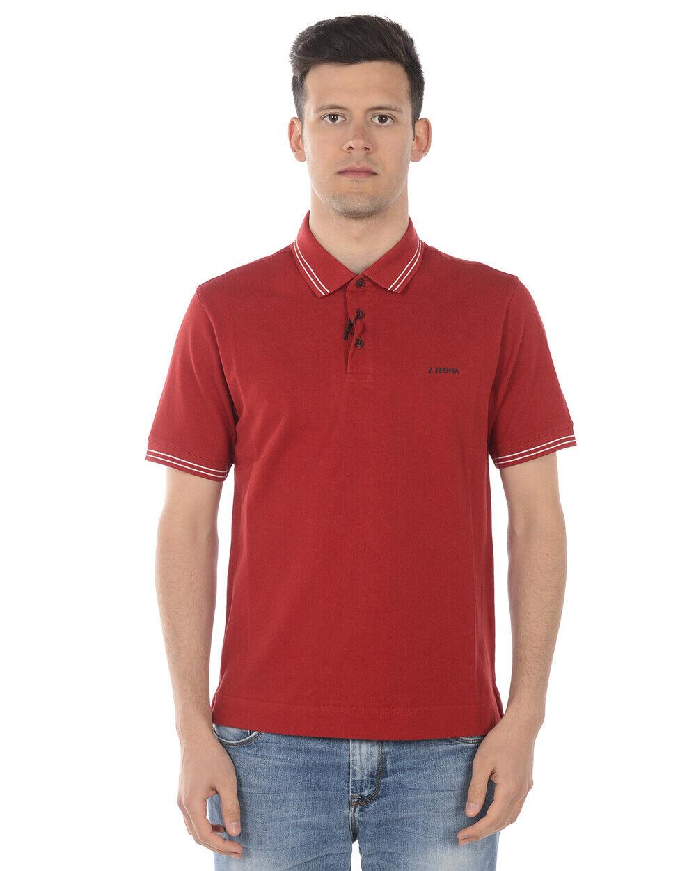Zegna Polo hemd baumwolle Man rot VS370 ZZ600 R09 Sz S MAKE OFFER