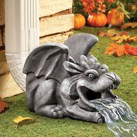 Winged Gargoyle Downspout Garden Statue Halloween Decoration