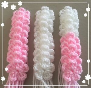 30-XHANDMADE-CROCHET-FLOWERS-WHITE-PINK-COLOUR-SIZE-3-CM