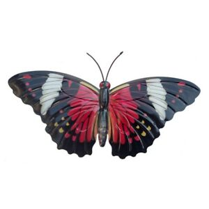 Metal-Garden-Butterfly-Wall-Art-Orange-Red-Green-Blue-Hanging-Fence-Shed-Outside
