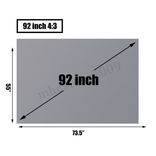 50-130/'/' Anti-light Projector Screen Projection 3D Home Cinema Theater 16:9 4:3
