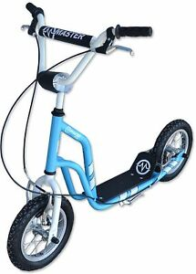 Scooter Enfants Scooter Master Ride 12 pouces Scooter Scooter Scooter Bleu-argent