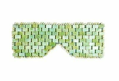 Face Care Facial Tourmaline Green Jade Gemstone Eye Mask for Healing, Relaxation