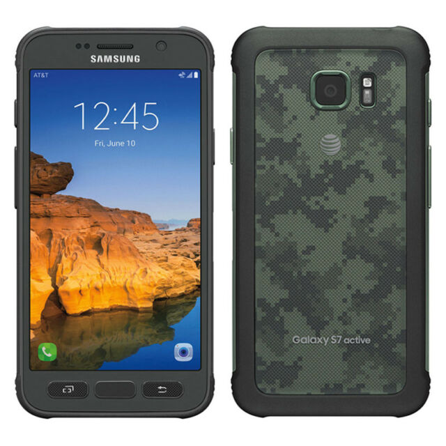 Samsung Galaxy S7 Active - 32GB - Camo Green (AT&T) Smartphone