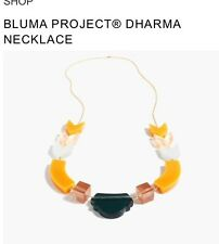 NWT BLUMA PROJECT FOR J CREW DHARMA NECKLACE $148 YELLOW