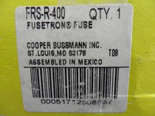 New Bussmann Fusestron FRS-R-400 Amp Fuse 600 Volts NIB