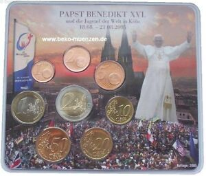 BRD-3-88-Euro-KMS-Papst-Benedikt-2005-Weltjugendtag