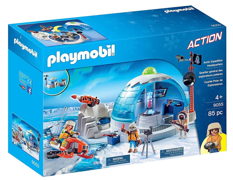 Playmobil Action 9055. Siège social Du Polar explorateurs. Plus de 4 ans