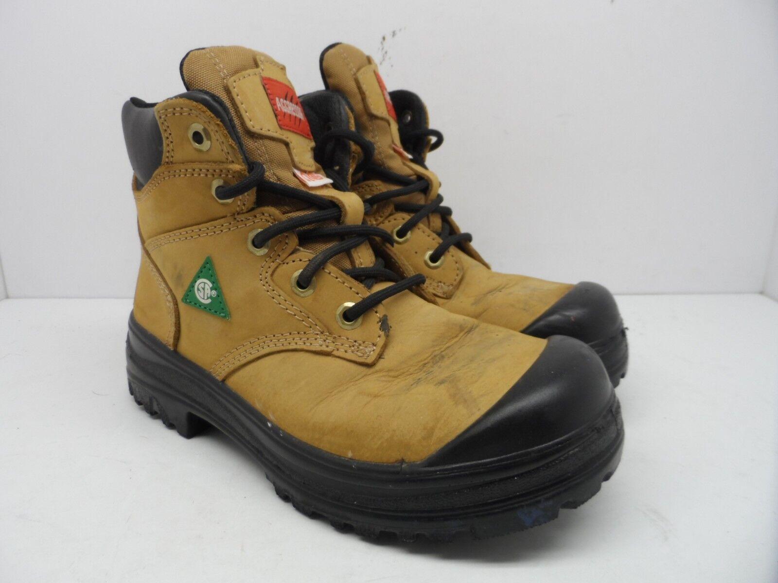 Aggressor Women's 6'' Lynx II Steel Toe Steel Size Plate Work Boot Wheat Size Steel 7.5M 34fa0f