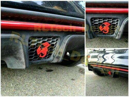 Badge logo scorpione Abarth 500 595 695 paraurti bumper diffusore metal fregio