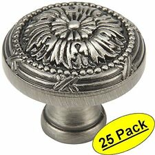 *25 Pack* Cosmas Cabinet Hardware Antique Silver Round Cabinet Knobs #9460AS