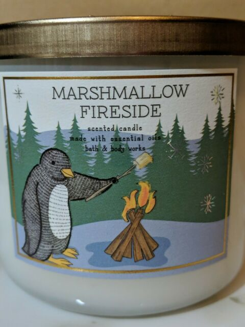 1 Bath /& Body Works MARSHMALLOW FIRESIDE Large 3-Wick Scented Candle 14.5 oz