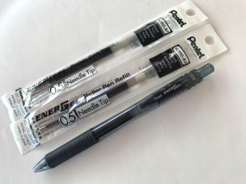 2 Refill Pentel Energel BLN105 Retractable gel roller pen 0.5 mm x 1 pen