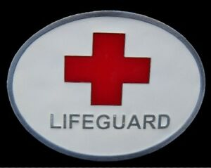 Beach-Patrol-Lifeguard-Swimmer-Sport-Cross-Belt-Buckle-Boucle-de-Ceintures