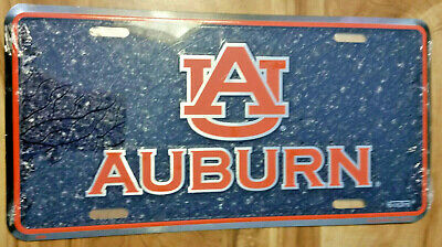 University of Auburn Tigers War Eagle Collegiate Embossed Aluminum Automotive Novelty License Plate Tag Sign