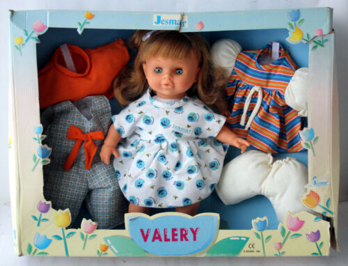 "VERY RARE VINTAGE 1993 JESMAR VALERY DOLL 35cm 14/"" MADE IN SPAIN NEW IN BOX !"