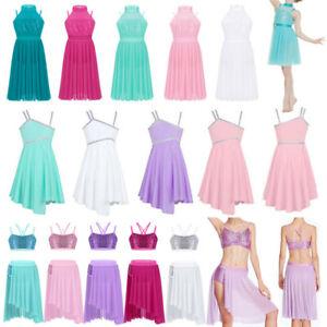Girls-Ballet-Latin-Dance-Dress-Kids-Leotard-Tutu-Skirt-Costume-Lyrical-Dancewear