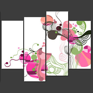 ABSTRACT-FLORAL-FACE-MODERN-DESIGN-CANVAS-PRINT-PICTURE-WALL-ART-HOME-DECOR