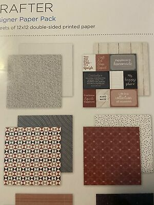 "Creative Memories 12x12 /""Crafter/"" Paper Pack EXCLUSIVE! 12pk Double-sided"