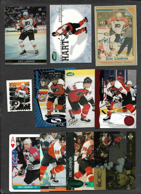 Eric Lindros - Philadelphia Flyers Cards & Stamp - Lot of 11