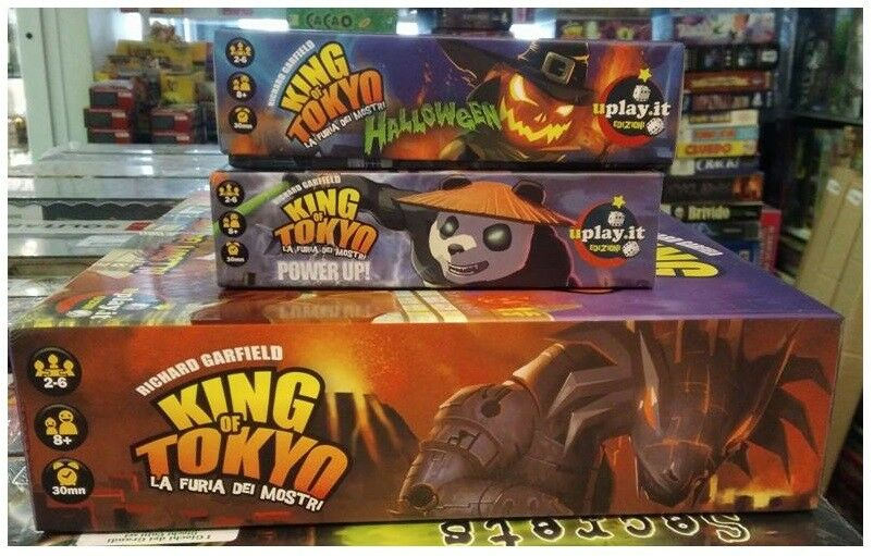BUNDLE  King of Tokyo + Expansions Puissance Up & HalFaibleeen, D'OCCASION, Italiano  autorisation officielle