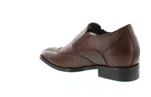 CALDEN K62623 - 2.8 Inches Elevator Embossed Height Increase Faux Ostrich Embossed Elevator Schuhes 3980e1