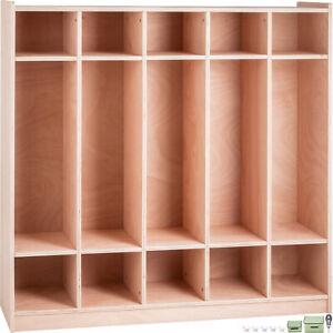 Preschool-Cubby-Locker-Storage-Cabinet-Coat-Locker-5-Section-Toddlers-and-Kids